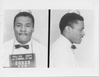 Mississippi State Sovereignty Commission photograph of Leslie Word following his arrest for his participation in the Freedom Rides, Jackson, Mississippi, 1961 June 2