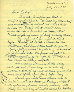 Letter from Russ Freeman to Caleb Foote
