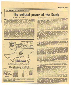 The political power of the south