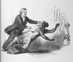 Pastor knocking over slave