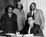Supervisor Kenneth Hahn signs proclamation