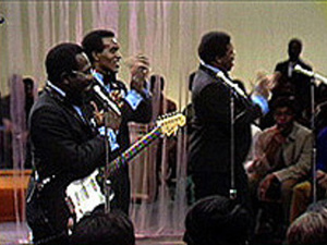 """Curtis Mayfield and The Impressions perform """"We're A Winner"""""""