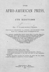 The Afro-American press and its editors [title page]