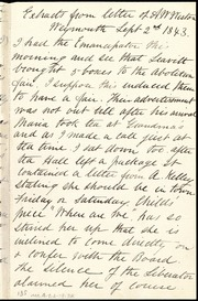 Extracts from letter of A.W. Weston [to unknown person] [manuscript]