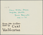 James Weldon Johnson and Carl Van Vechten, Great Barrington