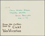 Thumbnail for James Weldon Johnson and Carl Van Vechten, Great Barrington