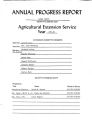 Annual Progress Report Dodge County, County Planning Unit Agricultural Extension Service Year 1981- 82