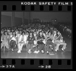 Students during Black and Brown Brotherhood Band performance at Hollenbeck Junior High, Los Angeles, Calif., 1979
