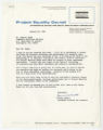 Janice Abbott, Assistant Director for research letter to Seymour Samet, January 20, 1968