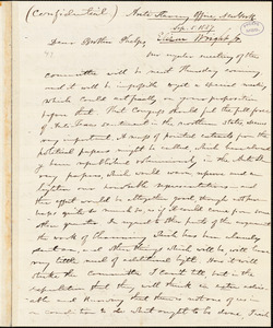 Letter from Elizur Wright, New York, to Amos Augustus Phelps, 1837 Sep[tember] 5