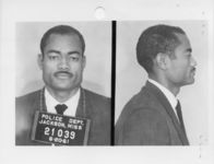 Mississippi State Sovereignty Commission photograph of William Wagoner following his arrest for his participation in the Freedom Rides, Jackson, Mississippi, 1961 June 20
