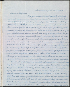 Letter from Frances H. Drake, Leominster, [Mass.], to Maria Weston Chapman, Jan. 18th, 1846