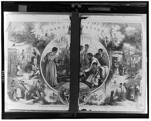 The emancipation of the negroes, January, 1863 - The past and the future
