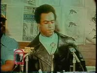 WSB-TV newsfilm clip of Huey Newton commenting on the possibility of moving the Black Panther Party headquarters to Atlanta, Georgia, 1971 September 8