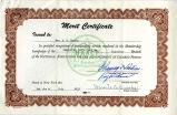 Certificate awarded to Dorothy F. Steele by National Association for the Advancement of Colored People, July 3, 1959