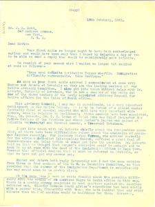 Letter from Oswin Bull to J. R. Mott