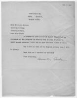 Correspondence, August 31, 1928