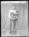 Full length front view of Che-Ke-Kuh. Oklahoma. U. S. Indian School, St Louis, Missouri 1904
