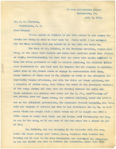 Letter from Leon C. James to J. E. Moorland [fragment]