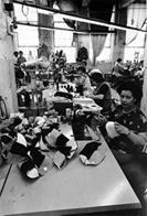Women sewing in a shop