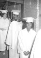 Susie Sanders and other female students standing in line during their graduation from Sidney Lanier High School in Montgomery, Alabama.