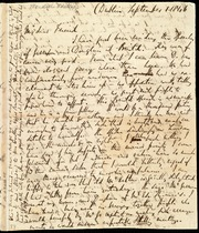 Incomplete letter to] My dear Friend [manuscript