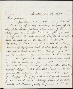 Letter from William Lloyd Garrison, Boston, [Mass.], to Oliver Johnson, Nov. 18, 1858