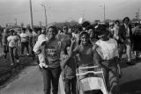 Rachel West Nelson and other marchers in Selma, Alabama, during the 20th anniversary reenactment of the Selma to Montgomery March.