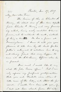 Letter from William Lloyd Garrison, Boston, [Mass.], to James Miller M'Kim, Dec. 17, 1859