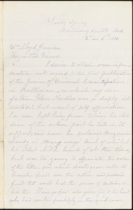 Letter from Mary L. Roberts, Sandy Spring, M[arylan]d, to William Lloyd Garrison, 1876 [February] 6th