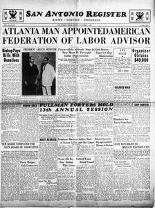 San Antonio Register (San Antonio, Tex.), Vol. 3, No. 35, Ed. 1 Friday, December 1, 1933 San Antonio Register