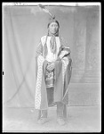 Front view of Indian man. Oklahoma 1904