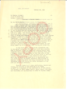 Letter from Frank B. Adair to Erskine Caldwell