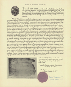 Reading of the original charter 459, 1958