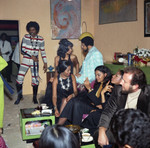Gwen Gordy Fuqua talking with Suzanne De Passe at a party, Los Angeles