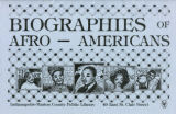 Biographies of Afro-Americans
