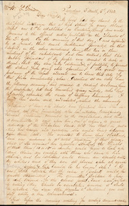 Thumbnail for Letter from George William Benson and Henry Egbert Benson, Providence, [Rhode Island], to William Lloyd Garrison, 1833 [March] 5th