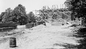 View of State Normal School grounds at beginning of work on buildings.