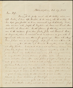 Letter from William Lloyd Garrison, Philadelphia, [Pa.], to Helen Eliza Garrison, Oct. 29, 1861