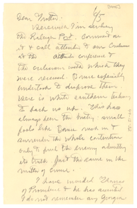 Letter from W. E. B. Du Bois to William Monroe Trotter