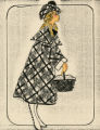 Costume design drawing, plaid coat, Las Vegas, June 5, 1980