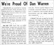 We're Proud of Dan Warren