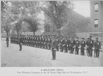 A military drill; The winning company at the M Street High School, Washington, D.C
