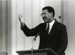 Chris Holden addresses Womens Equality Day at P.C.C. 1989