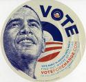 Barack Obama campaign stickers, ca. 2008