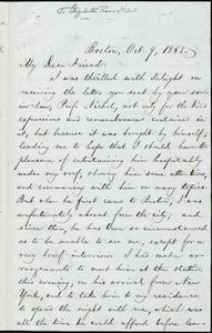 Letter from William Lloyd Garrison, Boston, [Mass.], to Elizabeth Pease Nichol, Oct. 9, 1865
