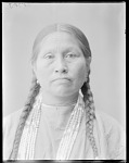 Front view of Mrs White Buffalo. Oklahoma. U.S. Indian school 1904