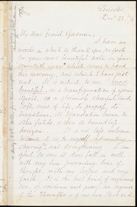 Letter from Samuel May, Jr., Leicester, [Mass.], to William Lloyd Garrison, Dec[embe]r 23 / [18]74