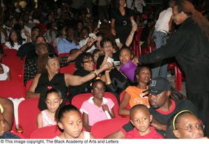 Audience Members Making Donations Hip Hop Broadway: The Musical