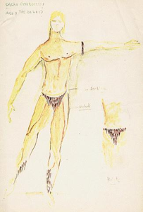 Concept Drawing for Alvin Ailey Dance